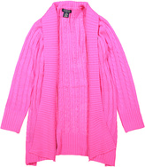U.S. Polo Assn. Neon Pink Open Cardigan - Girls