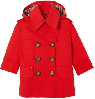 BURBERRY KIDS TEEN Showerproof duffle coat