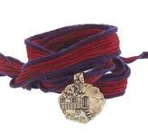 Catherine Michiels La Roulotte Bronze Charm & Silk Bracelet Wrap