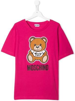 MOSCHINO BAMBINO TEEN teddy logo T-shirt