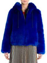 MSGM Faux Fur Hoodie