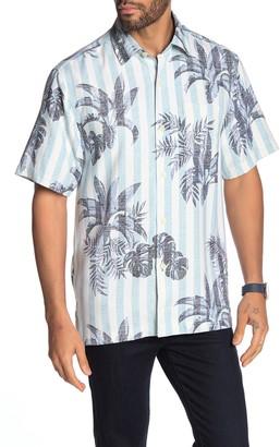 Tommy Bahama Poolside Palms Button Down Hawaiian Shirt