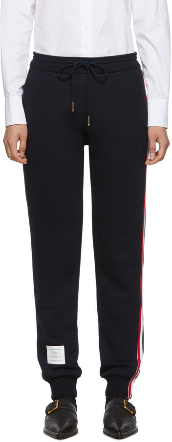 Thumbnail for your product : Thom Browne Navy Classic Loopback Lounge Pants