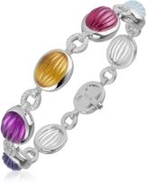 Tagliamonte Roma Imperiale Carved Gemstone Links 18K Gold & Diamond Bracelet