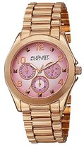 August Steiner Women's AS8150RG Rose Gold Multifunction Quartz Watch with Pink Dial and Rose Gold Bracelet