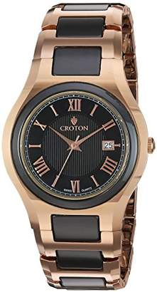 Croton Men's 'Millenium' Quartz Stainless Steel Watch