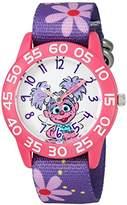 EWatchFactory Girl's 'Sesame Street' Quartz Plastic and Nylon Automatic Watch, Color:Purple (Model: W003190)