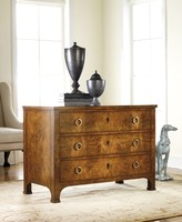 The Well Appointed House Modern History Three Drawer Walnut Commode - ON BACKORDER - PLEASE