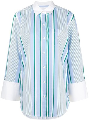 Equipment Striped Long Shirt