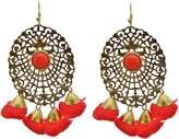 Jwellmart Pom Pom Earrings for Women & Girls - MultiColor Dangle & Drop Fur Funky Ear Rings