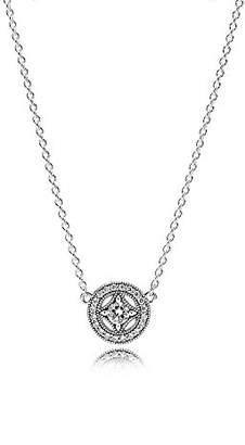 Pandora Women Silver Pendant Necklace - 590523CZ-45