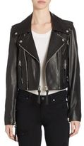 The Kooples Leather Cropped Jacket