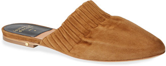 Laurence Dacade Ruched Flat Suede Mules