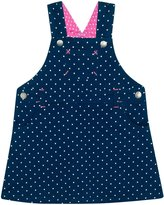 Jo-Jo JoJo Maman Bebe Dotty Overall Dress (Baby) - Navy/White Dot-6-12 Months
