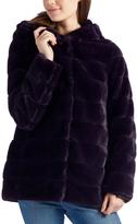 Laundry by Shelli Segal Purple Faux Fur Hooded Jacket