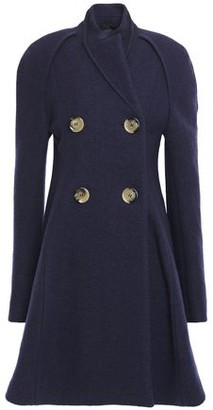 Victoria Beckham Double-breasted Wool-boucle Coat