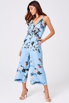 Paper Dolls Little Mistress Rori Blue Floral Lace Jumpsuit