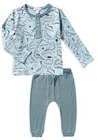 Angel Dear Boys' Dino Henley Shirt & Joggers Set - Baby