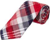 Brooks Brothers Red Fleece Red Seersucker Plaid Cotton Tie