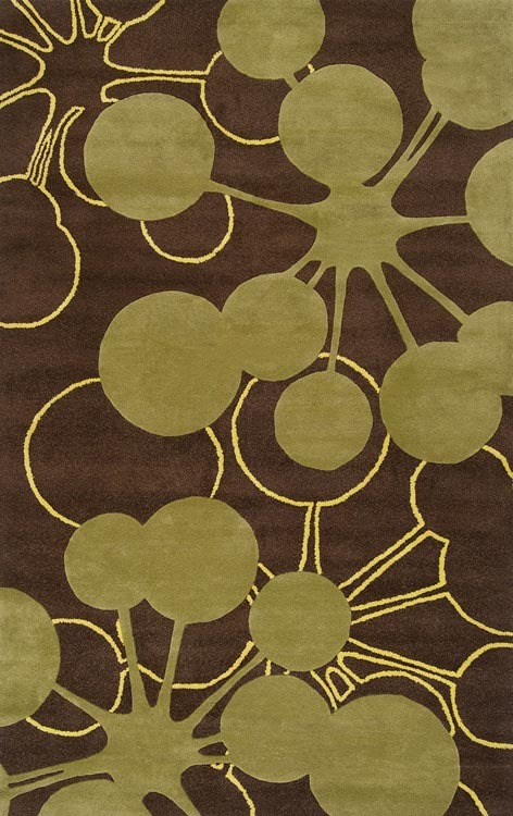 Jefdesigns Bubble Green Organic Modern Rug
