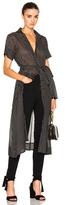 Lisa Marie Fernandez Shirt Dress in Black,Geometric Print.