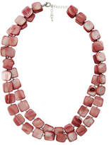 David Lawrence Squared Off Short Shell Necklace