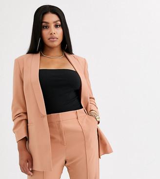 Asos DESIGN curve mix & match tailored suit blazer