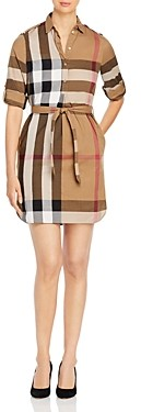 Burberry Check Print Shirt Dress (50% off) Comparable value $600
