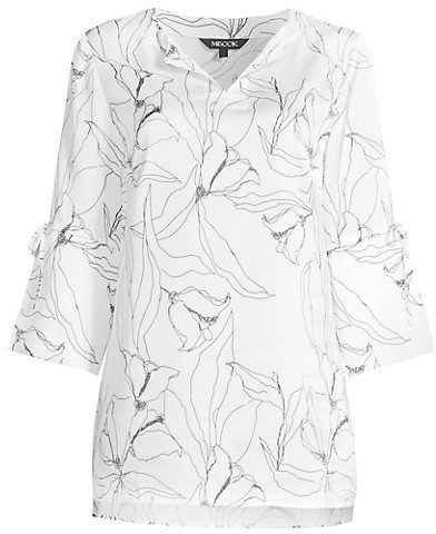 Thumbnail for your product : Misook Abstract Floral Tie-Sleeve Tunic