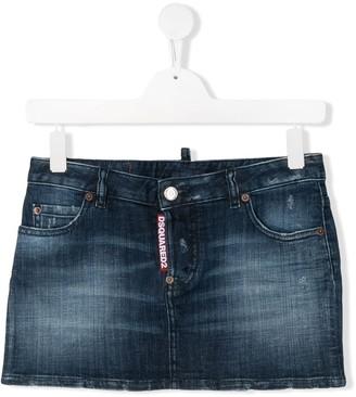 DSQUARED2 TEEN denim mini skirt