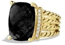 David Yurman Wheaton Ring With Black Onyx And Diamonds In 18K Gold