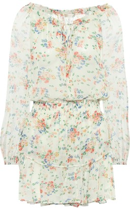LoveShackFancy Popover floral silk minidress