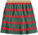Gucci Pleated silk voile blend skirt