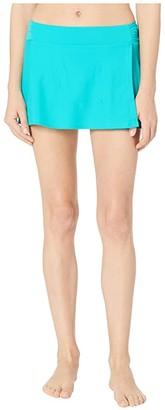 Cabana Life Essentials Classic Swim Skirt Bottoms (Turquoise) Women's Swimwear
