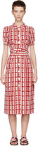 Miu Miu Red Printed Bow Dress