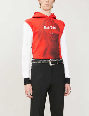 Paco Rabanne Male Tales graphic-print cotton-jersey hoody