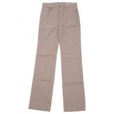 Miu Miu Beige Cotton Jeans