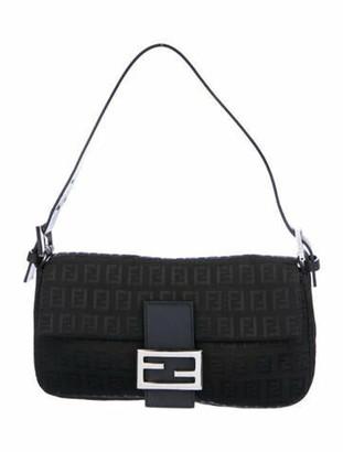 Fendi Zucca Baguette Bag Black