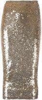 P.A.R.O.S.H. sequined skirt - women - Polyamide/Spandex/Elastane/PVC - XS