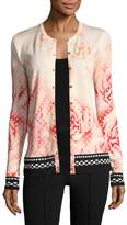 Roberto Cavalli Women's Floral and Dot Print Cardigan