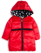 Armani Junior Armani Girls' Reversible Hooded Puffer Coat - Sizes 12-36 Months