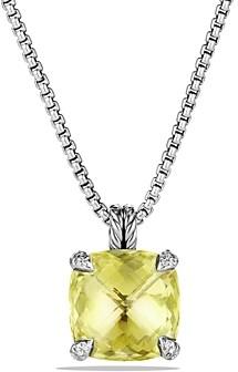 David Yurman Chatelaine Pendant Necklace with Lemon Citrine and Diamonds