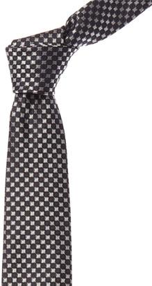 Canali Black & Grey Silk Tie