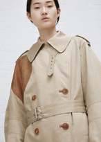 Wunderkind khaki trench with contrast dot detail