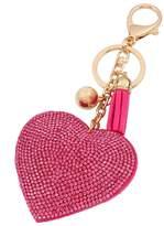 QIYUN.Z Heart Pendant Key Chain Rhinestone Keyring Purse Car Alloy Keyfob Porte-cles