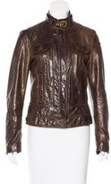 Dolce & Gabbana Crinkle Patent Leather Jacket