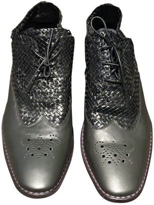Haider Ackermann Anthracite Leather Lace ups