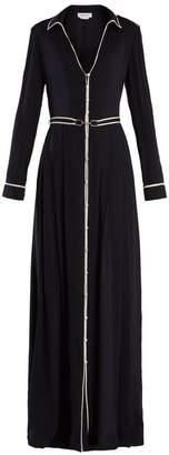 Gabriela Hearst Lempicka Silk Crepe De Chine Gown - Womens - Navy