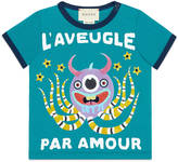 Gucci Baby cotton t-shirt with monster print