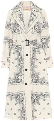 Tory Burch Paisley cotton poplin trench coat